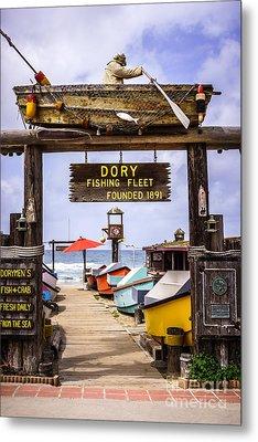 Dory Fishing Fleet Market Newport Beach California Metal Print by Paul Velgos