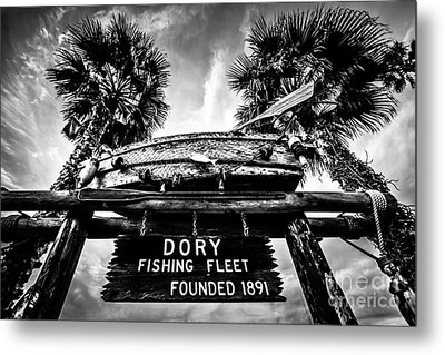 Dory Fishing Fleet Sign Picture In Newport Beach Metal Print by Paul Velgos
