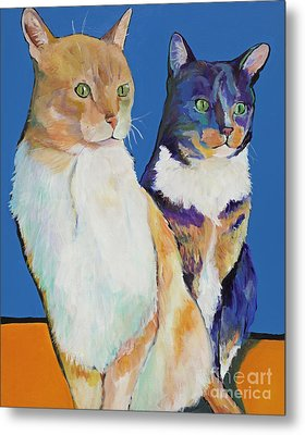 Dos Amores Metal Print by Pat Saunders-White