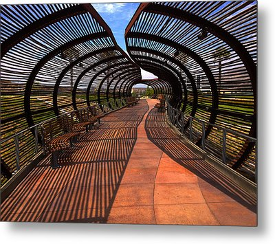 Metal Print featuring the photograph Dos Lagos Tunnel Walk by Richard Stephen
