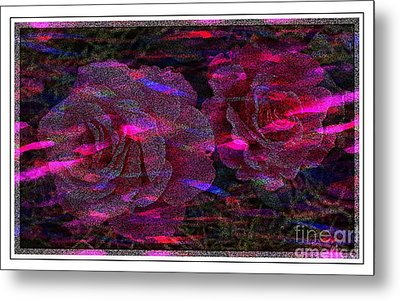 Dots Of Light And Roses Metal Print by Barbara Griffin