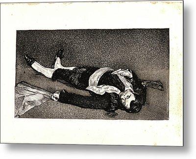 Édouard Manet French, 1832 - 1883. The Dead Toreador Le Metal Print