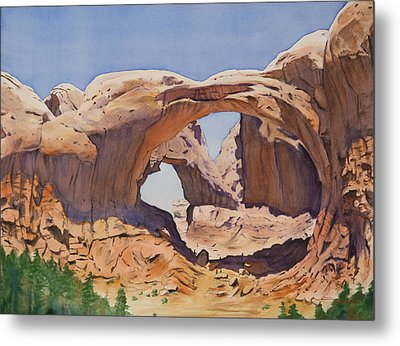 Double Arch Metal Print by Christopher Reid