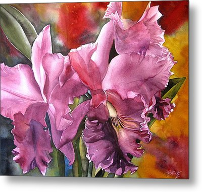 Double Cattleya Orchid Metal Print by Alfred Ng