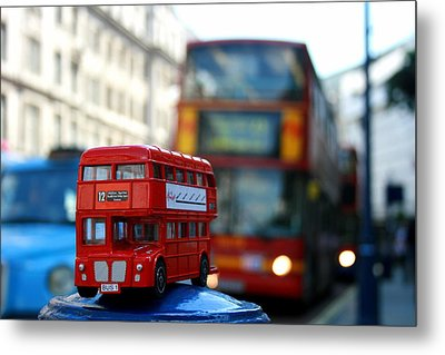 Double Deckers At Piccadilly Circus  Metal Print