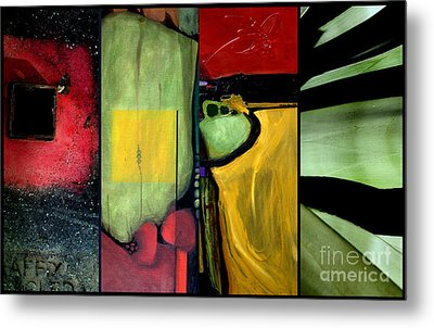Double Diptychin' Metal Print by Marlene Burns