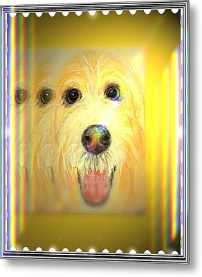 Double Dog Metal Print