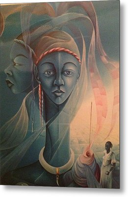 Double Face Of A Voodoo Woman Metal Print