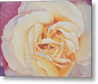 Double Helix Rose Metal Print by Christopher Reid