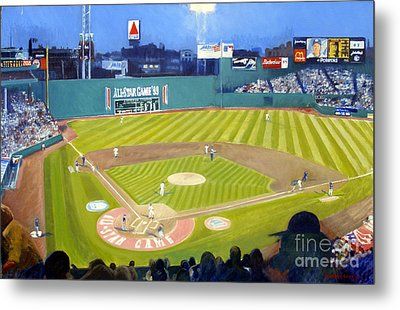 Double Play In Fenway Metal Print