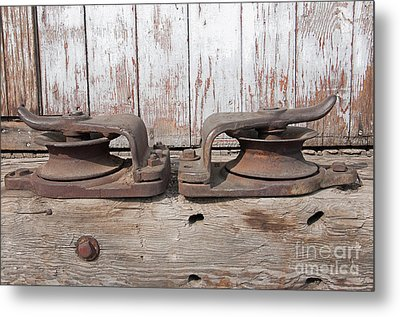 Metal Print featuring the photograph Double Pully by Minnie Lippiatt