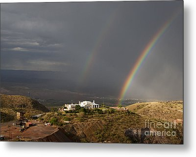 Double Rainbow And Jerome State Park Metal Print