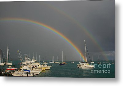 Double Rainbow Metal Print