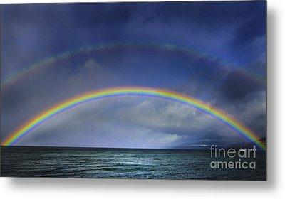 Double Rainbow Over Lake Tahoe Metal Print