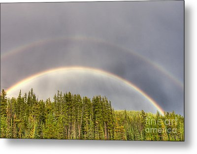 Double Rainbow Metal Print by Wanda Krack