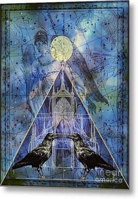 Double Raven Constellation Metal Print by Judy Wood