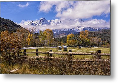Double Rl Ranch Metal Print by Priscilla Burgers