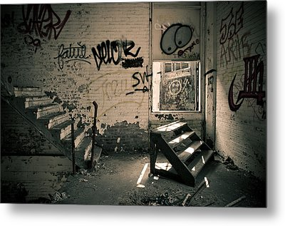 Metal Print featuring the photograph Double Stairs by Priya Ghose