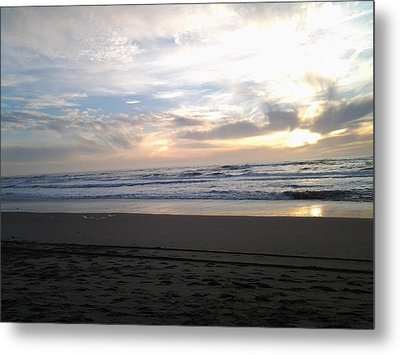 Double Sunset Metal Print