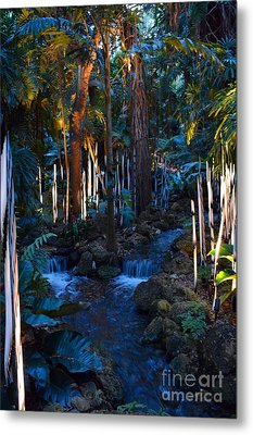 Double Waterfall Metal Print by Edna Weber
