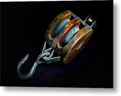 Hook Block Or Pully Block - Nautical Metal Print
