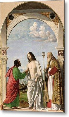 Doubting Thomas With St. Magnus Metal Print by Giovanni Battista Cima da Conegliano