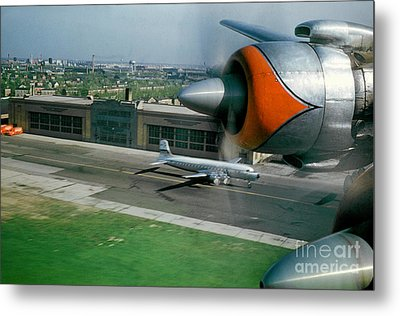 Douglas Dc-7 Taking Off Metal Print