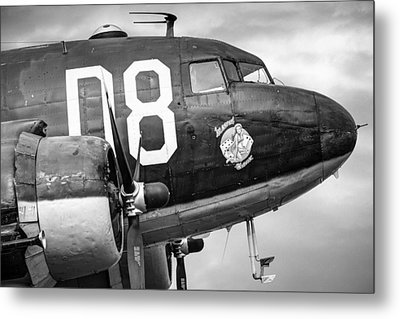 Douglass C-47 Skytrain - Nose Section - Dakota Metal Print by Gary Heller