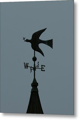 Dove Weathervane Metal Print by Ernie Echols