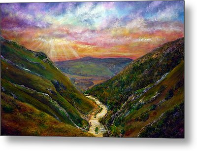 Dovedale Sunset Metal Print by Ann Marie Bone