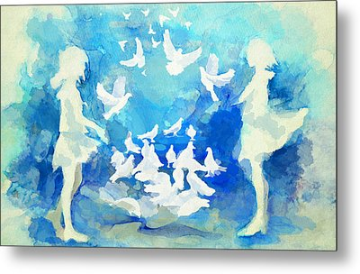 Doves  Metal Print by Catf