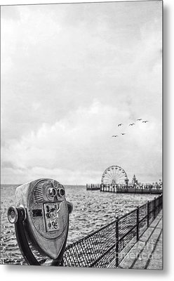 Down At The Pier Metal Print by Edward Fielding