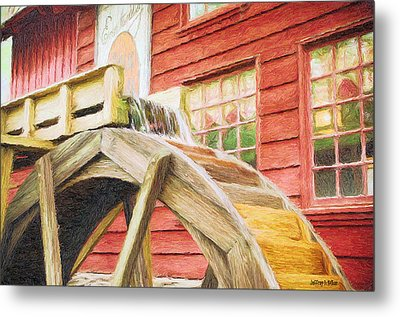 Down By The Old Mill Metal Print by Jeffrey Kolker