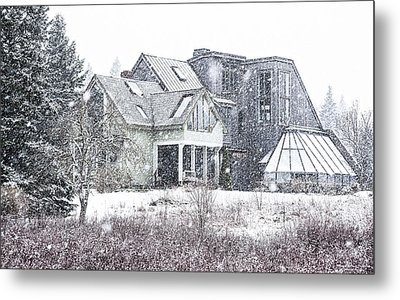 Down East Maine Contemporary Farmhouse Metal Print by Marty Saccone