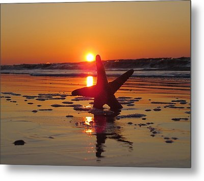 Down Low Beach Metal Print