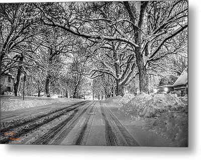 Down The Lane Metal Print by Dan Crosby