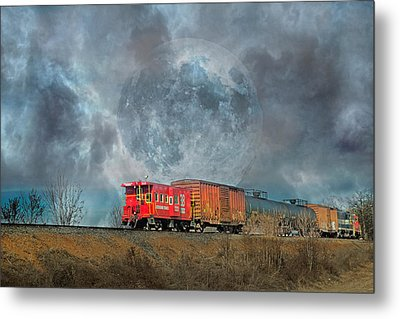 Down The Line Metal Print by Betsy Knapp