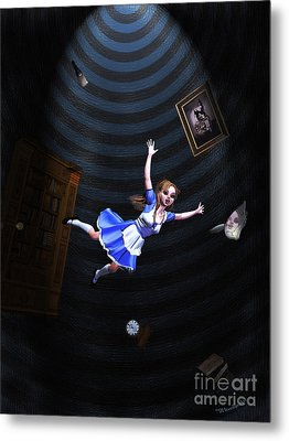 Down The Rabbit Hole Metal Print