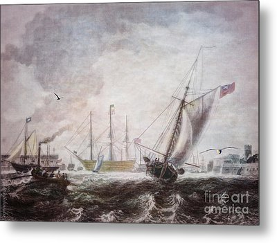 Down To The Sea In Ships Metal Print by Lianne Schneider