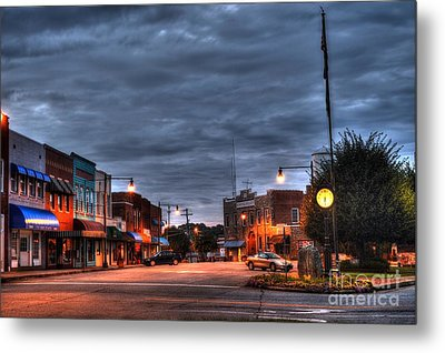 Down Town Granite Falls At Six Thirty In The Morning Metal Print