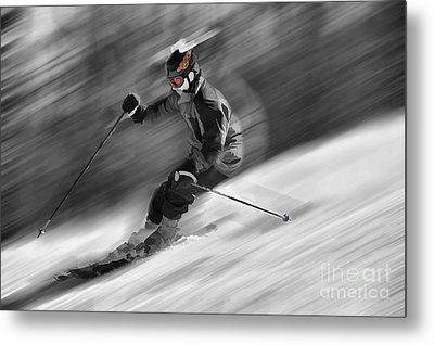 Downhill Skier  Metal Print by Dan Friend