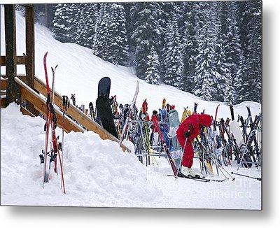 Downhill Skiing Metal Print