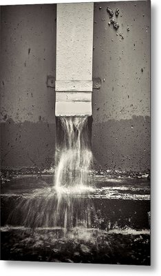 Downspout Metal Print by Rudy Umans