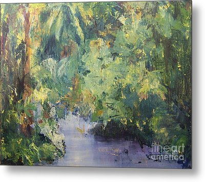 Metal Print featuring the painting Downstream by Mary Lynne Powers