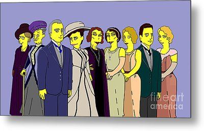 Downton Abbey - Cast Nine Metal Print