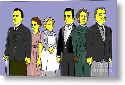 Metal Print featuring the digital art Downton Abbey - Downstairs 6 by Donna Huntriss