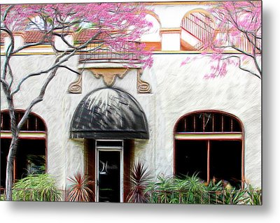 Metal Print featuring the photograph Downtown by Athala Carole Bruckner
