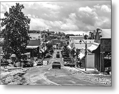 Downtown Auburn In The Snow 2 Metal Print by Sherri Meyer