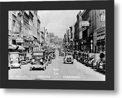 Downtown Bristol Va Tn 1931 Metal Print