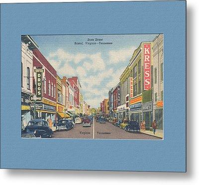 Downtown Bristol Va Tn 1940's Metal Print